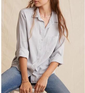 Bella Dahl Shirt Tail Button Down Foggy - S