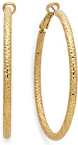 INC International Concepts Gold-Tone Small Textured Hoop Earrings