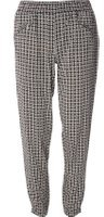 Dorothy Perkins Womens Black And Nude Geometric Print Joggers- Black