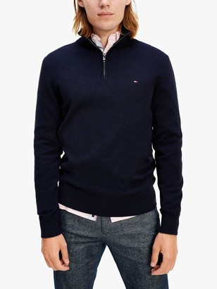 Tommy Hilfiger Cotton Blend Half Zip Jumper