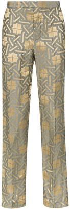 Haider Ackermann Amiral jacquard trousers