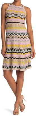 M Missoni Wavy Striped Sleeveless Dress