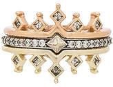 Kendra Scott Lottie Ring Set of 3 in Metallic Gold. - size 6 (also in 7)