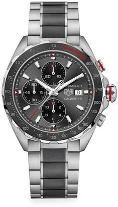 Tag Heuer Formula 1 44MM Stainless Steel & Ceramic Automatic Chronograph Bracelet Watch