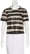 Burberry Ponyhair Embellished Top