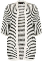 Yours Clothing YoursClothing Plus Size Womens Ladies Jumper Cardigan Top Kimono Crochet Stripe
