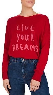 Gerard Darel Sidney Live Your Dreams Cashmere Sweater