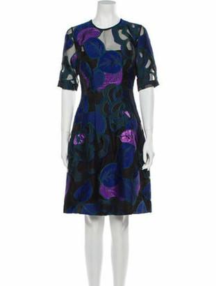 Lela Rose Floral Print Knee-Length Dress w/ Tags Rose