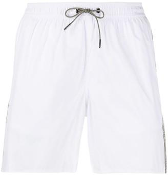 Emporio Armani Logo Stripe Swim Shorts