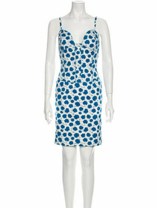 Oscar de la Renta 2007 Mini Dress Blue