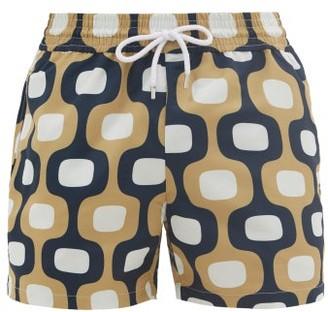 Frescobol Carioca Ipanema Mosaic-print Swim Shorts - Gold Navy