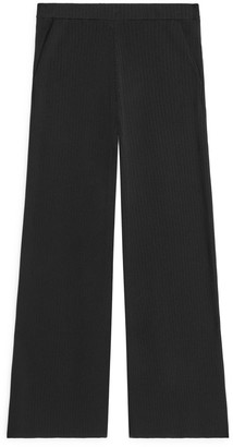 Arket Rib-Knitted Trousers