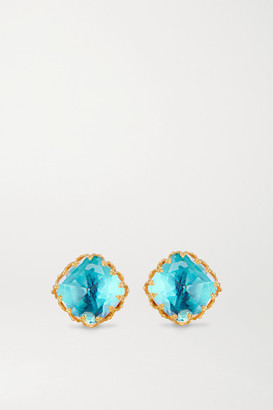 Larkspur & Hawk Jane Small 18-karat Gold-dipped Quartz Earrings - one size