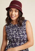 ModCloth Cloche-Minded Hat in Maroon