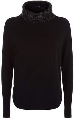 William Sharp Embellished Turtleneck Sweater