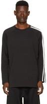 Y-3 Black Long Sleeve Three-Stripes T-Shirt