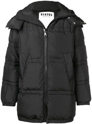 Versus logo print puffer jacket