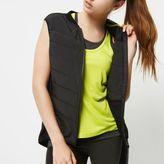River Island Womens RI Active black padded sports vest