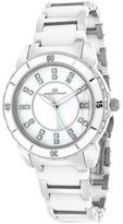 Oceanaut OC2411 Women's Charm White & Silver Ceramic Watch with Crystal Accents