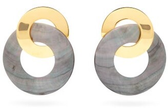 Lizzie Fortunato Solstice Statement Gold-plated Earrings - Womens - Blue