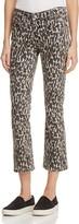 Paige Poppy Crop Flare Jeans in Leopard Grey - Rosie HW x