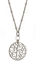 Athena Designs Cutout Tree of Life Circular Pendant Necklace