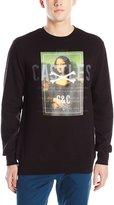 Crooks & Castles Men's Knit Crew Sweatshirt Castles