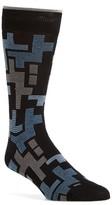 Bugatchi Men's Geometric Mercerized Socks