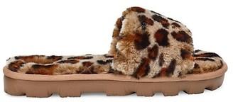 UGG Cozette Leopard-Print Sheepskin Slides