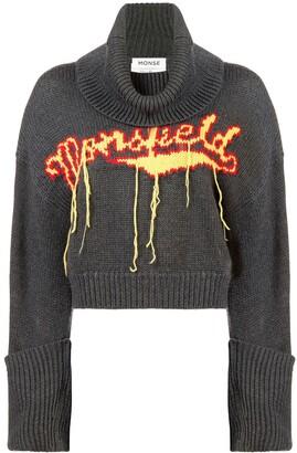 Monse Monsfield fringe knitted jumper