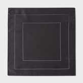 Paul Smith Men's Grey Concentric Square Pattern Silk Pocket Square