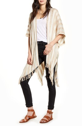 Treasure & Bond Stripe Open Front Cardigan