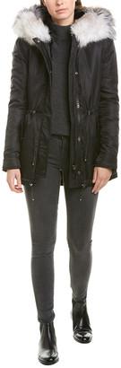 Nicole Benisti Series Leather-Trim Down Jacket