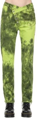 Marques Almeida Tie Dye Denim Jeans W/ Overlapping Waist