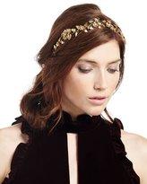 Jennifer Behr Aveline Floral Circlet Headband, Gold