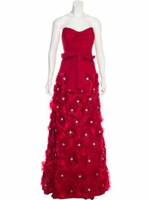 Jovani Floral Embellished Strapless Gown