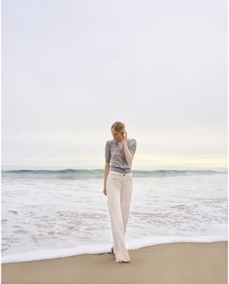 G. Label Juliette Short-Sleeve Striped Cardigan