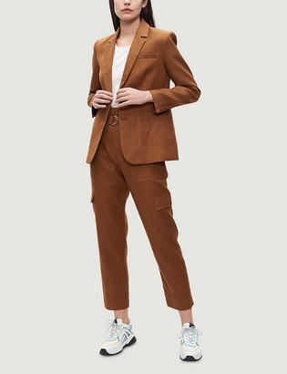 Claudie Pierlot Vesta single-breasted stretch-woven blazer