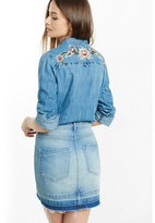 Express embroidered back yoke fitted denim shirt