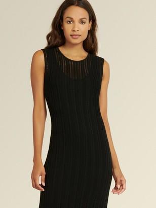 DKNY Donna Karan Women's Sleeveless Crochet Dress - Black - Size XX-Small