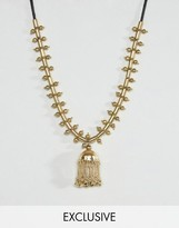 Reclaimed Vintage Inspired Metal Bell Necklace