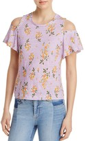Rebecca Taylor Cold Shoulder Floral Tee - 100% Exclusive