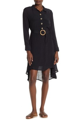 FAVLUX High/Low Belted Dress