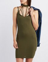 Charlotte Russe Caged Ribbed Bodycon Dress