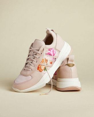 Ted Baker Rhubarb Chunky Leather Mix Trainers
