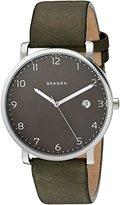 Skagen Men's SKW6306 Hagen Green Leather Watch