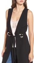 Leith Women's Grommet Belted Longline Vest