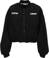 Off-White Off White Cropped Varsity Jacket