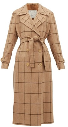 Giuliva Heritage Collection The Christie Checked Wool Trench Coat - Camel