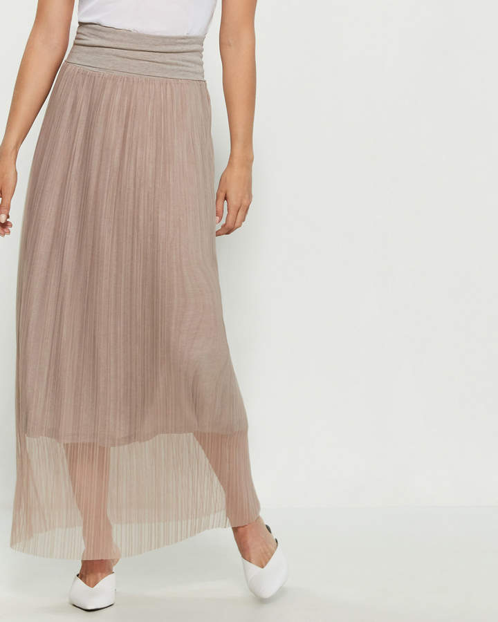1c9d83edab Sheer Pleated Skirt - ShopStyle
